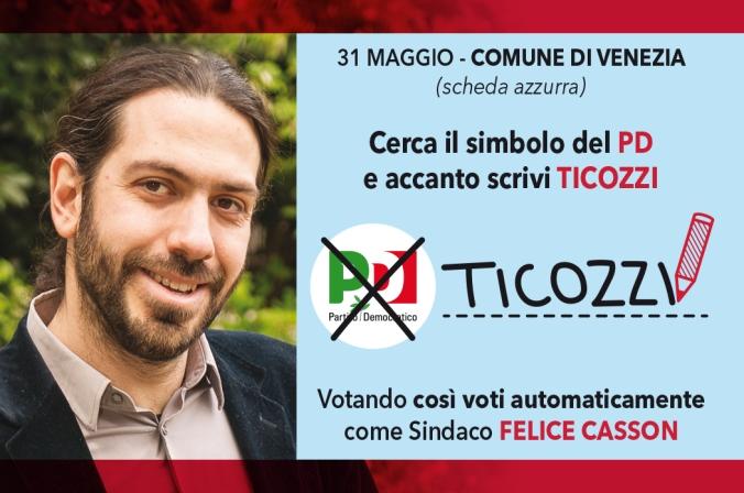 Santino Paolo Ticozzi Elezioni comunali 31 maggio 2015 comune di Venezia