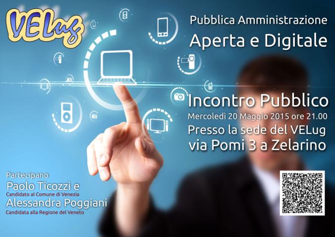Locandina Incontro Pubblica Amministrazione Aperta e Digitale